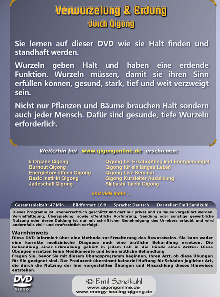 Verwurzelung & Erdung durch Qigong - Qigong DVD